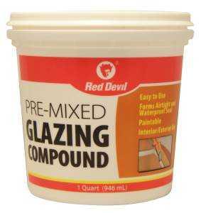 Red Devil 0664 Glazing Cmpnd White Tub Qt