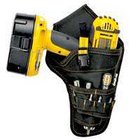 Custom Leathercraft 5023 Cordless Drill Holster With Pockets