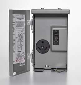 Connecticut Electric CESMPSC13HR Rv Panel 30a Power Outlet W/Breaker Wp