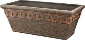 MintCraft PT-027 25-Inch Rectangle Aged Bronze Decorative Planter