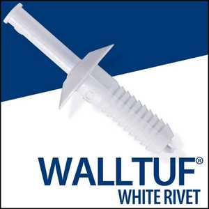 Palram Americas 92593 Walltuf Rivets 3/4 White Bag50