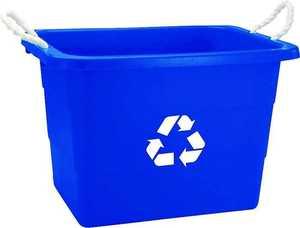 United Plastics TU0105 19 Gal Recycling Tub Rect