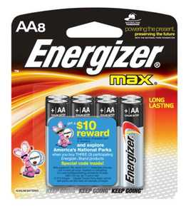 Energizer Battery E91MP-8 Aa Alkaline Battery 8pk