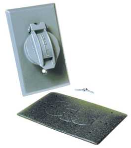 Bell Weatherproof 5155-5 1g Gray Vert Single Receptacle Cover