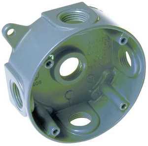 Bell Weatherproof 5361-5 4 in Round Aluminum Gray Splice Box