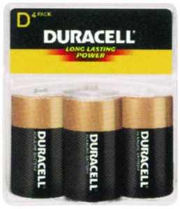 Duracell MN1300R4Z Duracell D Alkaline Battery 4 Pack