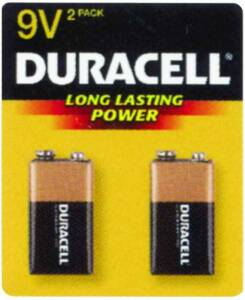 Duracell MN1604BZ 2-Pack 9v Copper Top Battery