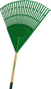 Landscapers Select 33273 26-Tine Poly Lawn/Leaf Rake With 48-Inch Wood Handle