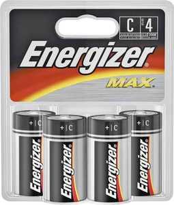 Energizer Battery E93BP-4 Energizer C Battery 4pk