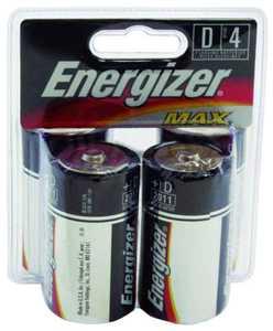 Energizer Battery E95BP-4 Energizer D Battery 4pk