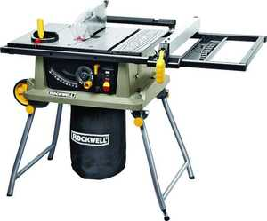 Rockwell RK7241S Table Saw With Trolley Stand