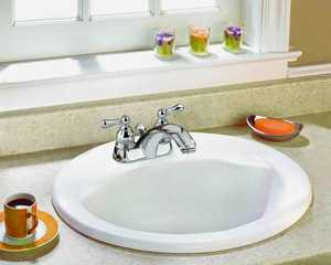 American Standard Brands 1618V-100 Drop-In Lavatory/Bathroom 19 in Round White