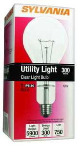 Sylvania/Osram/LEDVANCE 15740 300 Watt Ps30 Clear Incandescent Bulb