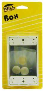 Bell Weatherproof 5320-6 1gang White Aluminum 3 Outlet Box