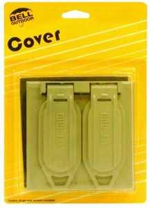 Bell Weatherproof 5148-5 2g Weatherproof Gray Duplex Receptacle Cover