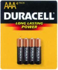 Duracell MN2400B4Z AAA Copper Top AAA Battery 4 Pack
