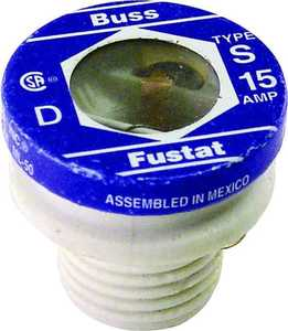 Bussmann Fuses BP/S-15 Plug Fuse Heavy Duty Tamper Proof 15a