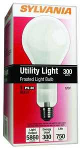 Sylvania/Osram 15735 300 Watt PS30 Frost Incandescent Bulb