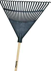 Toolbasix 30992 EP22OR 22-Inch Poly Leaf Rake 48 in Wood Handle