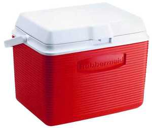 Rubbermaid Home 2A13-04 MODRD 24-Quart Red Cooler