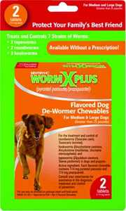 Sergeant's Pet 17703 2-Count Wormx Plus Large Dog