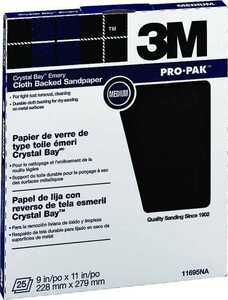 3M 11695 9x11 Medium Emery Cloth