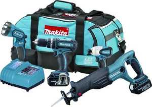 Makita LXT407 Cordless Tool Combo Kit 18v Lxt