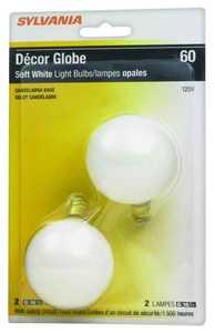 Sylvania/Osram 13622 25 Watt G16.5 Soft White Incandescent Bulb