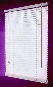 Homebasix MBV-25X64-3L 25w X 64h White Vinyl Mini Blind