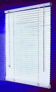 Homebasix MBV-27X64-3L 27w X 64h White Vinyl Mini Blind