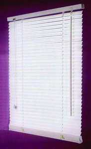 Homebasix MBV-31X64-3L 31w X 64h White Vinyl Mini Blind