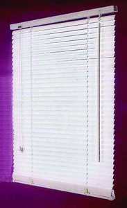 Homebasix MBV-47X64-3L 47w X 64h White Vinyl Mini Blind