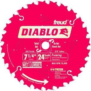 Freud D0724A 7-1/4 24tht Diablo Saw Blade