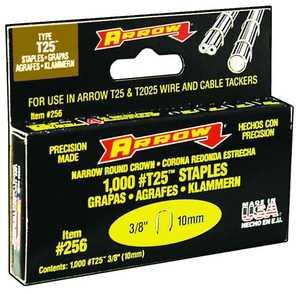 Arrow Fastener Co 256 3/8 in Staples 1000/Box