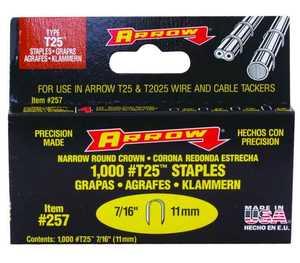 Arrow Fastener Co 257 7/16 in Staples 1000/Box