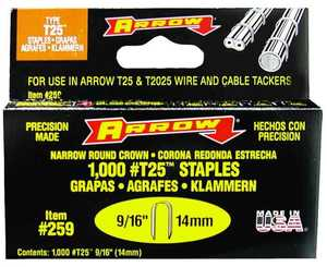 Arrow Fastener Co 4158846 9/16-Inch Staples 1000/Box
