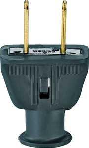 Cooper Wiring 183BK-BOX Black Rubber 2wire Plug