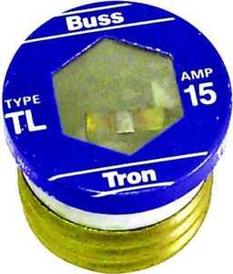 Bussmann Fuses TL-15 15a Time Delay Tl Plug Fuse