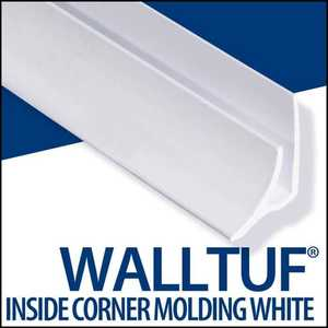 Palram Americas 92586 Walltuf Inside Corner Mould 8 ft White
