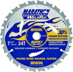 Irwin 24035 7-1/4 24th Circular Saw Blade Weldtec