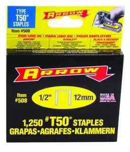 Arrow Fastener Co 50824/508 1/2 in Staples 1250/Box