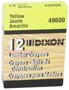 Dixon Ticonderoga 49600 Yellow Lumber Crayon
