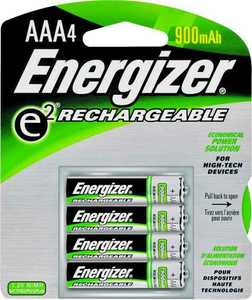 Energizer Battery NH12BP-4 4 Pk Aaa Rechargable Battery