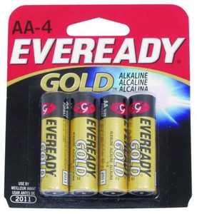Energizer Battery A91BP-4 Evrdy Aa Alk Battery 4pk