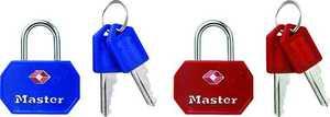 Master Lock 4681TBLR Tsa Approved Luggage Lock 2-Pack