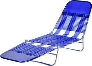 Worldwide Sourcing S65002-B Pvc Folding Chaise Royal Blue