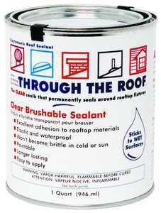 Sashco Sealants 14003 Qt Clear Roof Sealant