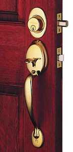 Schlage Lock F60VPLY/PLY505 Plymouth Handlset Bright Brass