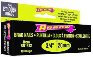Arrow Fastener Co BN1812B 3/4-Inch 18-Gauge Brown Brad Nails
