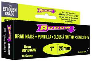 Arrow Fastener Co 6022065 1-Inch White Brad Nails